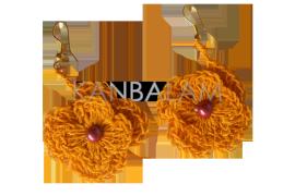 Aretes de Ixtle flores