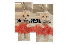 Aretes de Ixtle muñecas
